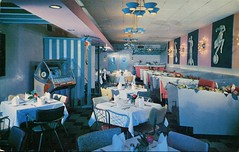 Capri Restaurant, Niagara Falls, Ontario (SwellMap) Tags: architecture vintage advertising restaurant design pc cafe 60s fifties postcard suburbia style diner kitsch retro truckstop nostalgia chrome americana 50s roadside cafeteria googie populuxe sixties babyboomer consumer coldwar snackbar eatery midcentury spaceage driveinrestaurant atomicage