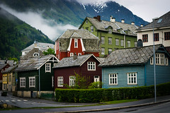 Multicolor, Odda Norway (kasperskreien) Tags: houses color beautiful norway 50mm daylight nikon 50 hardanger odda d3300