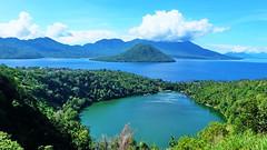 Laguna Lake, Ternate Island North Moluccas Indonesia (sheing.coe) Tags: sea mountain lake water indonesia landscape islands outdoor panoramic fujifilm maluku ternate moluccas xm1 fujifilmxm1