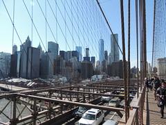 Downtown Manhattan seen from Brooklyn Bridge - New York City - April 2016 (jeanyvesriou1) Tags: newyorkcity manhattan brooklynbridge downtownmanhattan april2016