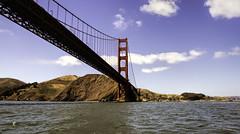 Golden Gate Bridge North Tower and Marin Headlands (Thanks for 2 million views) Tags: sanfrancisco bridge sky cloud sun tower water marine marin headlands tug cavallo saltwater
