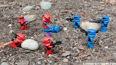 Red Vs Blue (4v4) (X39BrickCustoms .com) Tags: lego custom mark 5 armor halo red vs blue minifigures legos brickarms prototype battle