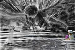 despair for the world (LotusMoon Photography) Tags: photomontage despair hope peace photomanipulation photoshop photoart layers blacknwhite artistic artful monochrome message dark apocalyptic hopeful vision creative creation imagery annasheradon surreal texture