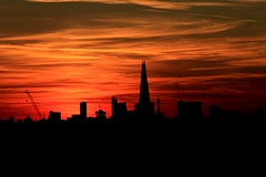 London (Michael Adedokun) Tags: greenwichpark londonskyline theshard skyscrapers skyline london landscape architecture buildings silhouettes sunset