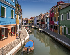 Colorful Burano (Sorin Popovich) Tags: burano italy architecture blue red yellow brightcolour buildingexterior canal clearsky colourimage day europe inarow boat island italianculture moored multicoloured nauticalvessel outdoors photography reflection tourism traveldestinations venetianlagoon veneto water nopeople fullframe