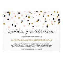 (Pink & Gold Confetti Dots Wedding Invitation) #Blush, #Classic, #Confetti, #Contemporary, #Deco, #Dots, #Elegant, #Glamour, #Gold, #Modern, #Pattern, #Pink, #PolkaDots, #Purple, #Script, #Stylish, #Typography, #Unique, #Vintage, #Wedding, #Whimsical is a (CustomWeddingInvitations) Tags: pink gold confetti dots wedding invitation blush classic contemporary deco elegant glamour modern pattern polkadots purple script stylish typography unique vintage whimsical is available custom invitations store httpcustomweddinginvitationsringscakegownsanniversaryreceptionflowersgiftdressesshoesclothingaccessoriesinvitationsbinauralbeatsbrainwaveentrainmentcompinkampgoldconfettidotsweddinginvitation weddinginvitation weddinginvitations