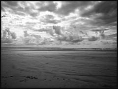 eerily empty! (jlc pics) Tags: beach sand sky blackandwhite sea devon nikon d7000 solitude emptiness