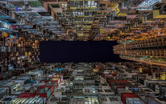 Quarry bay, Hong Kong (urbanexpl0rer) Tags: hongkong asia china lookup architecture symmetry square residentialbuilding sky towardsthesky