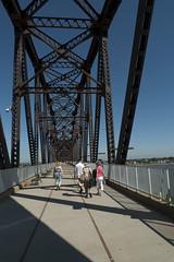 foot bridge crossing Ohio River in Louisville, Kentucky (tcd123usa) Tags: louisvillekentucky leicadlux4 lukeacts 2016 retreat