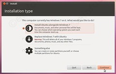 along side windows 7 (eInfoDesk) Tags: how install ubuntu pc or laptop tutorial with pictures step by method