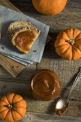 Organic Homemade Pumpkin Butter (brent.hofacker) Tags: bread butter canned chutney cinnamon confiture conserve container cooked delicious dessert fall food fruit gourmet healthy holiday homemade indulgence ingredient jam jelly knife loaf marmalade orange organic preserve pumpkin pumpkinbutter puree ripe rustic seasonal slice snack spoon spread squash sugar sweet table traditional vegetable veggie wooden