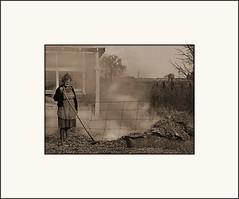 Burning (Bob R.L. Evans) Tags: sepiatone burningleaves fall autumn