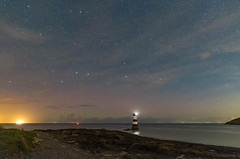 'Aurora 26th Sept' - Penmon, Anglesey (Kristofer Williams) Tags: penmon anglesey lighthouse aurora aurorauk auroraborealis northernlights wales night sky stars nightscape beach coast walescoastpath