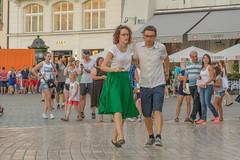 first step (stevefge) Tags: krakow poland oldtown squares street dance dancing people candid reflectyourworld