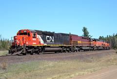Tunnel Quad (Missabe Road) Tags: cn canadiannational ble dmir tunnelmotor sd40t3 u789 ironrangesubdivision