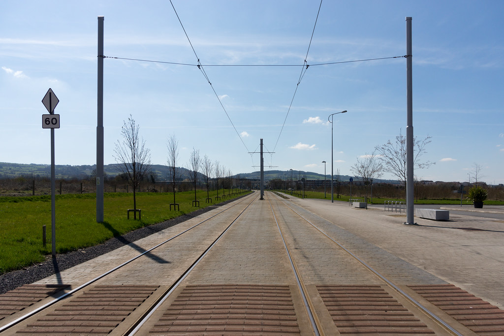 LUAS TRAM STOP IN CITYWEST [APRIL 2015] REF-103240