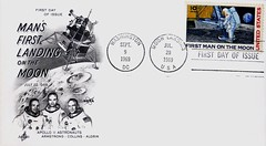 """""""First Man on the Moon"""" First Day of Issue (July 20, 1969). 10 Cents U.S. Air Mail Postage (lhboudreau) Tags: 1969 stamps astronaut nasa stamp astronauts moonlanding postage postagestamp lem airmail philately stampcollection usstamps 10cents apollo11 tencents fdc buzzaldrin neilarmstrong manonthemoon july201969 firstdaycover uspostage theeaglehaslanded usstamp eaglehaslanded firstdayofissue lunarlanding mikecollins lunarexcursionmodule firstmanonthemoon stampcollectors spacestamp spacestamps collectorstamps apollo11astronauts collectorstamp mansfirstlandingonthemoon"""