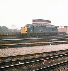 37006 Bristol (British Rail 1980s and 1990s) Tags: britishrail br class37 37006 bristolbathroad 37 train rail railway depot tmd diesel loco locomotive 1980s 80s ee englishelectric type3 eighties livery blue gwml greatwesternmainline wr westernregion mainline trains growler tractor syphon liveried shed traction railways
