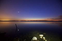 Venus in the Lake (May 8) (John Andersen (JPAndersen images)) Tags: alberta calgary irricana leefilter night prairie reflections stars twilight venus