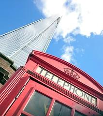 Shard and phone box (7) (bwin) Tags: uk england london unitedkingdom shard cityoflondon vogonpoetry theshard