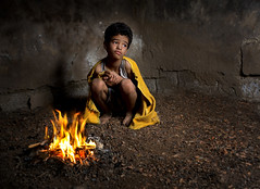 Winter fire (ali darwish233) Tags: lighting winter boy people fire photography photo bahrain child homeless poor     photogarpher     alidarwish
