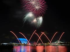 Sports Hub Fireworks D60_5031A (Purple_man) Tags: sports hub singapore fireworks stadium basin national cp cheah kallang 2015 purpleman