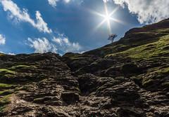 path to the tree of light (daniellaverick) Tags: blue sky sun lens climb district flare peaks burst dovedale