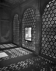 Red Fort Interior (glasseye83853) Tags: india redfort carvedstone stonescreen exposurelatitude