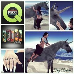 BetterPlace. (Fay Barom [SL FASHION JUNKIES]) Tags: sunset sexy beach female shock hh unicorn ncore maitreya slink catwa qposes