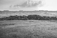 Potenga Sea Beach (MIUZpic) Tags: sea blackandwhite bw cloud beach blackwhite bangladesh chittagong potenga