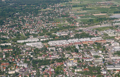 Piaseczno from above (roomman) Tags: above nature plane airplane landscape frankfurt aircraft aviation transport flight lot polish aerial final transportation airline lil warsaw approach airlines fra embraer emb 2016 aereal embraer175 eddf e170 e175 piaseczno polishairlines mazowia splil