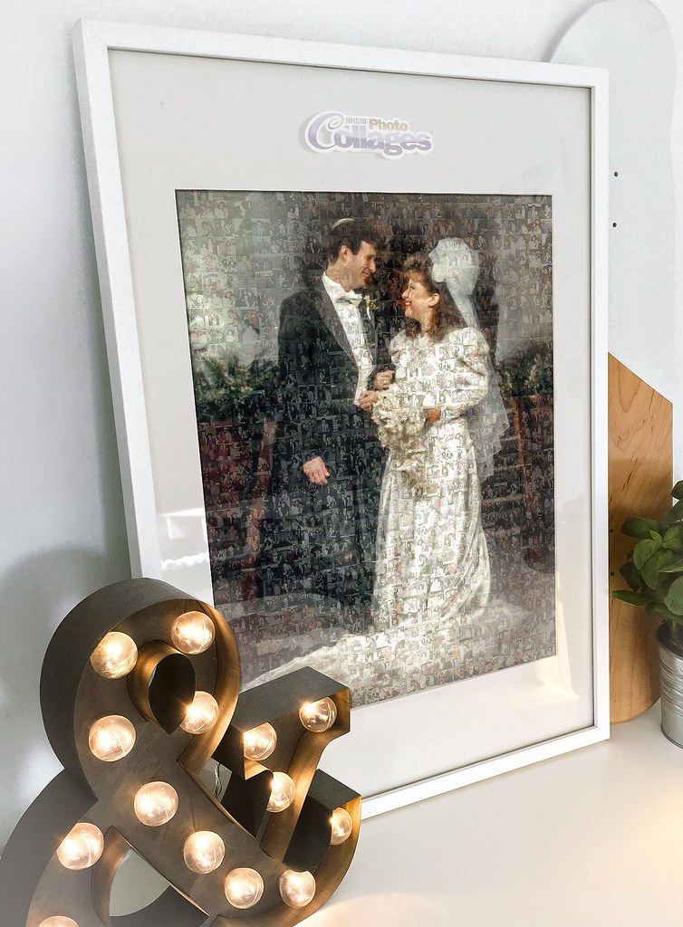 Memorable Wedding Gifts For Parents : Gift from Wedding Photos Mosaic in Frame (ProCollage) Tags: wedding ...
