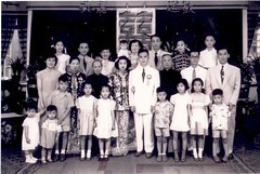 Chong Family in Hong Kong - shortly after World War 2