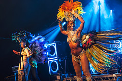 Bentley Rhythm Ace @ Lunar Festival 3 (preynolds) Tags: musician music festival dance concert birmingham raw dof dancing stage gig livemusic feathers noflash electronic mark2 stagelights dancinggirls braziliandancers tamron1750mm canon5dmarkii counteractmagazine lunarfestival2016