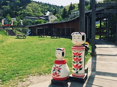 Naruko City. (MIREILLE) Tags: sculpture japan doll  kokeshi naruko