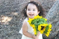 Gianna_0050 (Ciara*) Tags: girl kid toddler smiles cutie niece sunflower