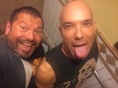 IMG_9385 (danimaniacs) Tags: man hot sexy male guy pee smile beard bathroom toilet hunk piss cincodemayo scruff