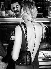 Dum Spiro Spero (totofffff) Tags: street 2 white black france film festival tattoo alpes french riviera noir cannes 10 d mark olympus ii e om blanc maritimes croisette mditerrane