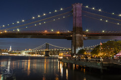 Manhattan Bridge New York (Paradigm Artistic Designs) Tags: nyc newyorkcity sunset newyork brooklyn manhattan brooklynbridge manhattanbridge brooklynbridgepark