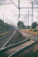 Railroad Track (FloHimself) Tags: road railroad canon vintage germany geotagged deutschland eos track rail bahnhof retro lneburg 500d bardowick canoneos500d