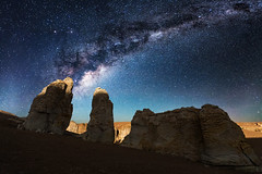 The Last Moon Light (vglima1975) Tags: longexposure nightphotography nature stars landscape atacama sanpedrodeatacama milkyway vialactea atacamadesert inexplore