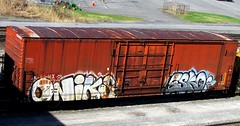 oniks - esko (timetomakethepasta) Tags: oniks link esko tms freight train graffiti boxcar