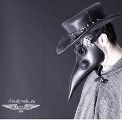 - [x] #postapocalyptic #postapocalypse #steampunk #steampunkmask #leathermask #handmade #LARP #plaguedoctor #plaguedoctormask #dieselpunk #dark #Leather #costume #cosplay #tophat #leatherhat (tovlade) Tags: black girl face make up leather punk hand mask goth goggles made doctor cyber cybergoth cyberpunk plague larp steampunk postapocalyptic postapocalypse dieselpunk