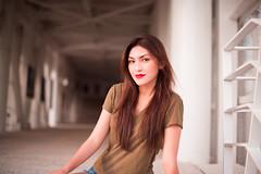 (Isai Alvarado) Tags: street light portrait urban woman sun sunlight cinema blur hot cute sexy film smile hair movie 50mm model nikon focus dof bokeh f14 stock longhair cine shades lips jeans lovely cinematic giuliana alvarado softlight d800 isai 50mm g fotografia isai