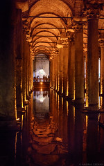 Basilica Cistern (szenasia) Tags: old travel red summer water architecture turkey 50mm ancient nikon basilica religion istanbul historic historical cistern yerebatan d610 sarnici