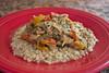 Crockpot Thai Peanut Chicken (dmoranphotog) Tags: red food chicken dinner fiestaware biselblog