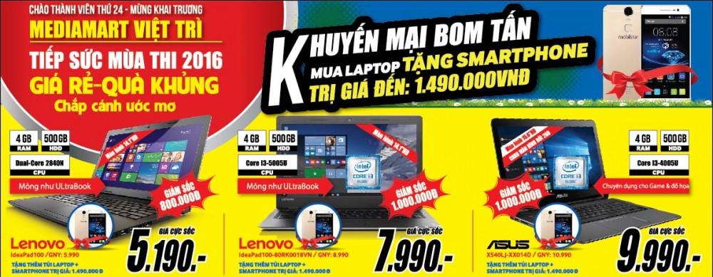 Giá sốc cơn lốc quà tặng – Chào mừng khai trương MediaMart Việt Trì