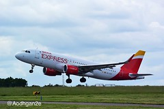 Iberia Express | EC-LYE | Airbus A320-216 (aodhgn_tuohy) Tags: ireland airport aircraft cork aviation airplanes jet airline airbus rotation express passenger takeoff a320 iberia a320216