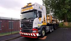 T634 MX15 EYC,Scania R580 V8,Ainscough Crane Hire (stonetemplepilot5) Tags: t634mx15eyc scaniar580v8 ainscough dumfries scotland scania sonya6000 sony a6000 truck transport lowloader worldtruck wagon
