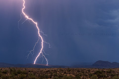 Forked (Mike Olbinski Photography) Tags: arizona cactus mountains rain desert monsoon thunderstorm lightning saguaro stormchasing superstitionmountains fourpeaks canon135mm20l canon5dmarkiii 20160628